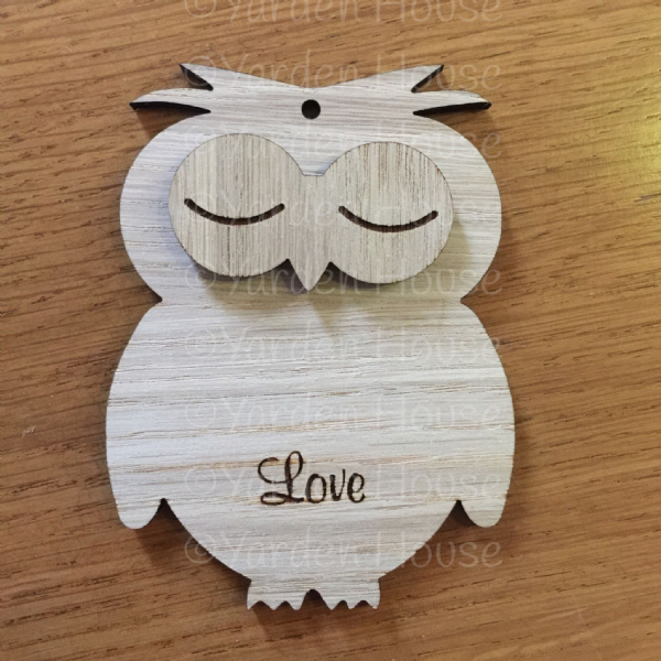 Hanging 10cm Owl, PERSONALISED
